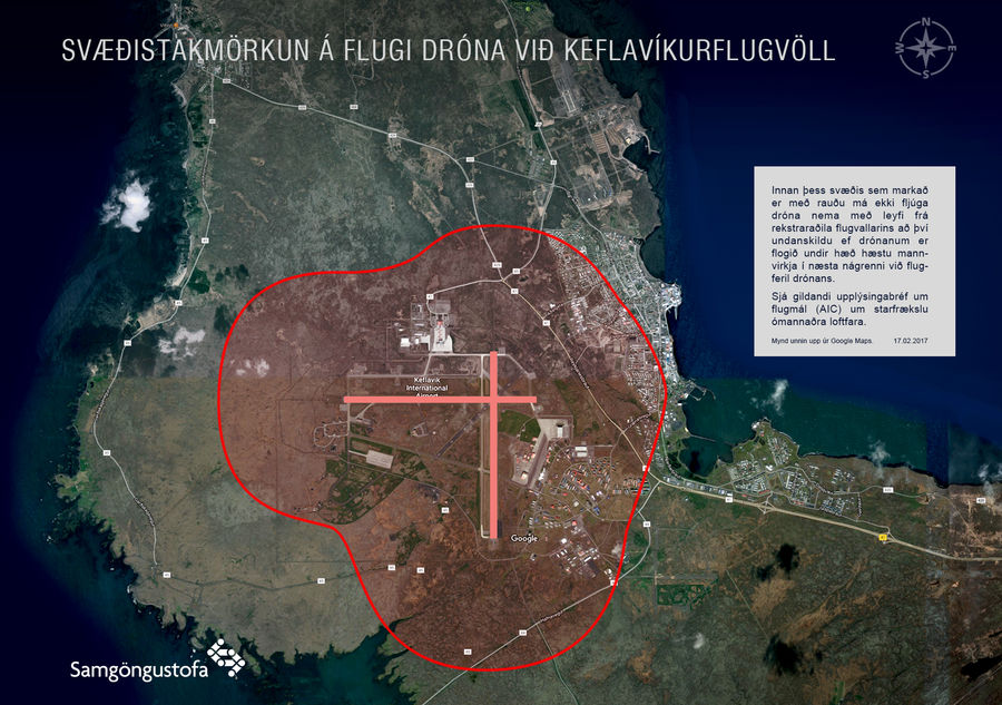 Here Is A Map Showing The Boundaries Of Keflavik International Airport