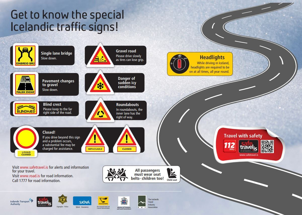 Get to know the special Icelandic traffic signs!